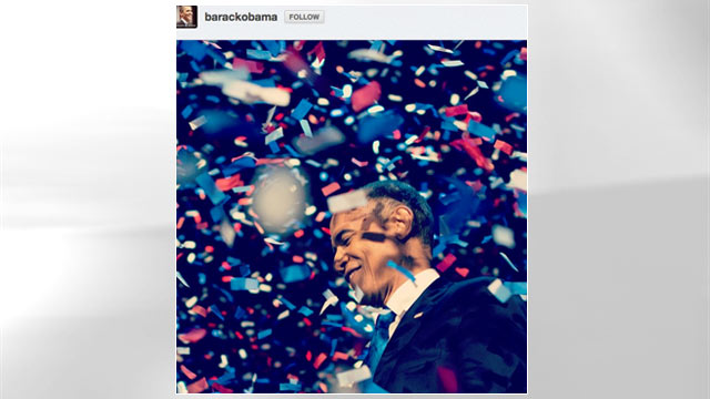 "PHOTO: President Barack Obama posted this Instagram picture on his account with the status, ""Thank You""."