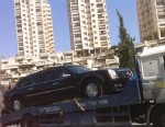 PHOTO: President Obamas limo broke down and had to be towed in Jerusalem.