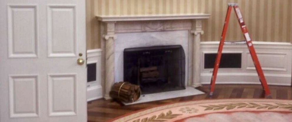 PHOTO: White House director of social media Dan Scavino Jr. tweeted on Aug. 4, 2017, this photo of the Oval Office undergoing renovations.