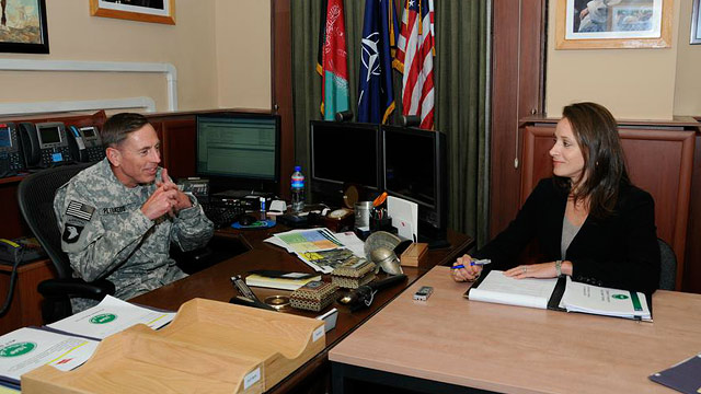 PHOTO: Gen. David Petraeus and biographer Paula Broadwell are shown in this undated ph