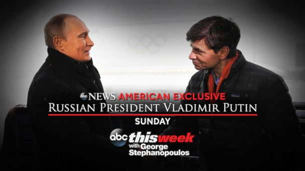 ht putin stephanopoulos2 kab 140117 16x9 608 Sunday Exclusive on This Week: Russian President Vladimir Putin