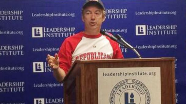 ht rand paul baseballuniform jc 140507 16x9 608 Rand Paul Gave An Entire Speech In A Baseball Uniform