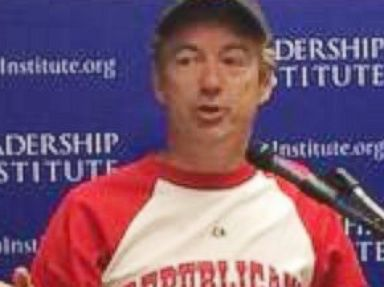 Rand Paul Just Gave an Entire Speech in a Baseball Uniform