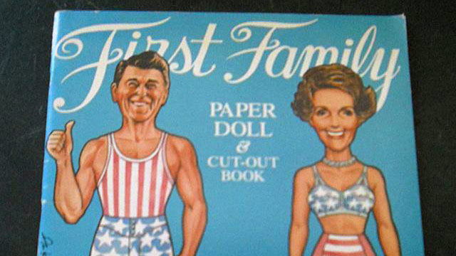 PHOTO: Nancy and Ronald Reagan first family paper doll and cutout book.
