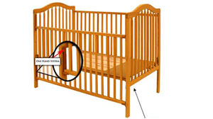 PHOTO recalled baby crib
