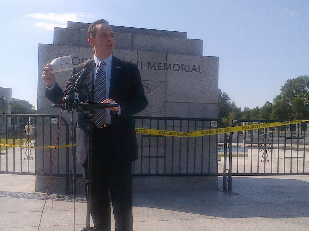 PHOTO: Republican National Committee Chairman Reince Priebus is seen at the World War II Memorial