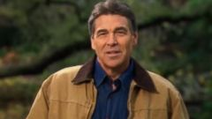 PHOTO: Rick Perry appears in his Strong advertisement, which debuted on his official YouTube account Dec 6, 2011.