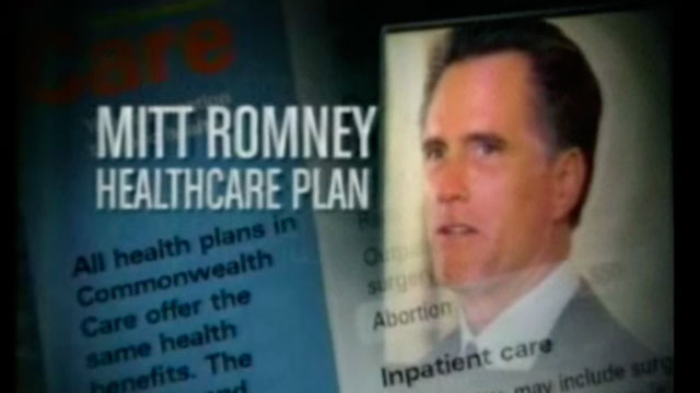 PHOTO: Former Arkansas Gov. Mike Huckabee ran this ad attacking Mitt Romney in 2008.