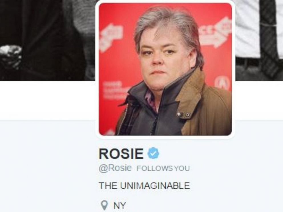 PHOTO: Rosie ODonnell modified her Twitter avatar on February 9. 2017, so she appears to look like Steve Bannon, whom shes been lobbying to spoof on Saturday Night Live.