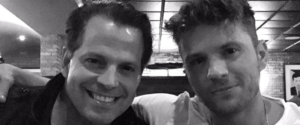 PHOTO: Former White House communications director Anthony Scaramucci and actor Ryan Phillippe at Craigs restaurant in West Hollywood, California, on Sept. 14, 2017.