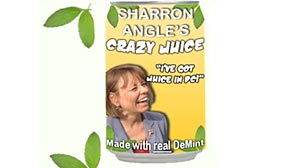 PHOTO: Harry Reid ad Sharron Angle Crazy Juice