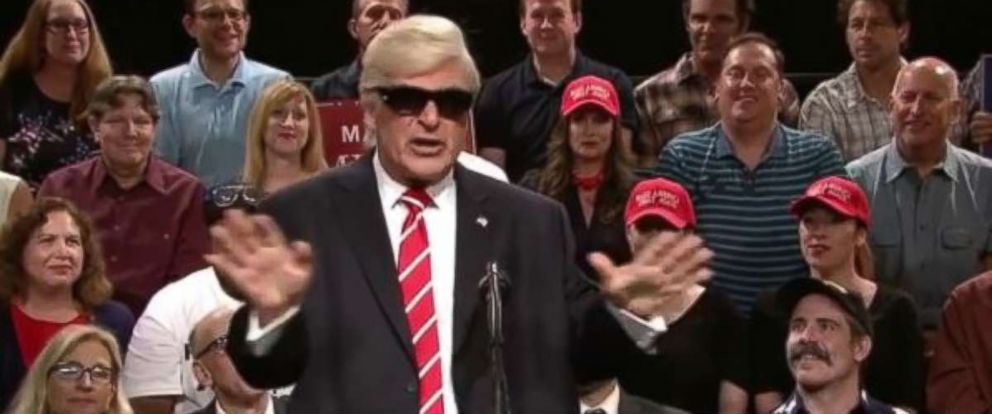 "PHOTO: Alec Baldwin impersonates President Donald Trump on ""Saturday Night Live Weekend Update Summer Edition"" on August 24, 2017."