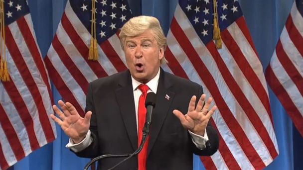 PHOTO: Alec Baldwin reprised his role as Donald Trump on