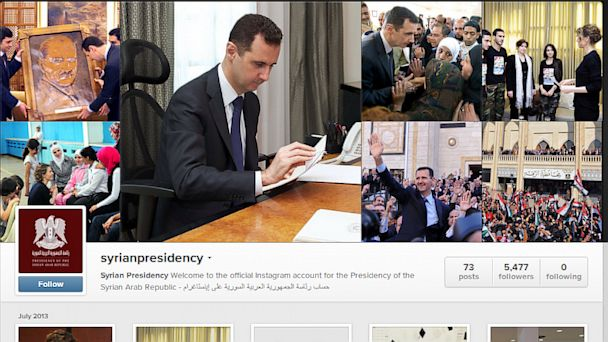 ht syrian president instagram kb 130731 16x9 608 State Dept. on Assad Instagram: #Despicable