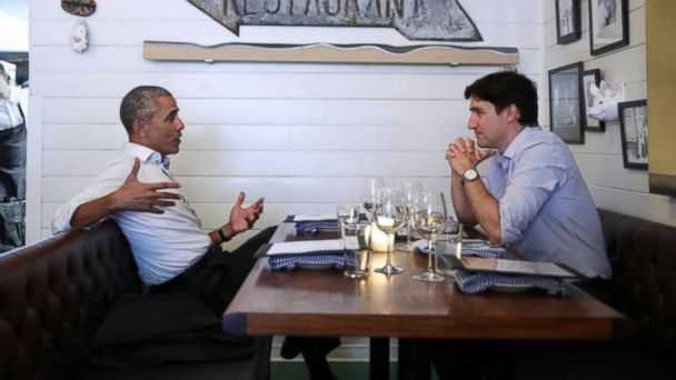 PHOTO: Former President Barack Obama and Prime Minister Justin Trudeau in Montreal on June 6, 2017.