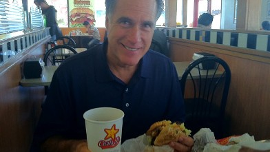 PHOTO: Former Governor of Massachussetts is seen at Carls Jr. in this photo from his twitter page.