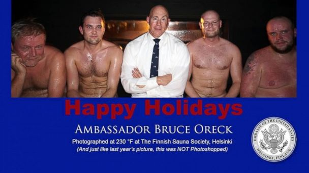 ht us ambassador finland christmas card ll 131212 16x9 608 Check Out the US Ambassador to Finlands Hilarious Holiday Card