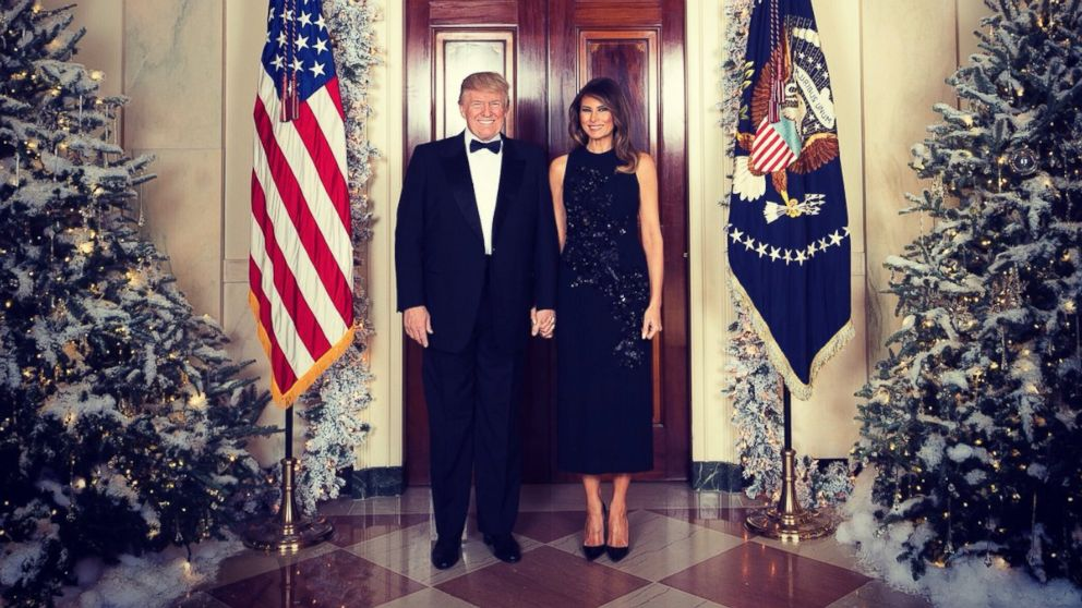 Trumps, Pences release their official Christmas portraits