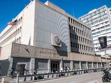 PHOTO: Exterior of the US Embassy building in Tel Aviv, Israel, Jan. 20, 2017.