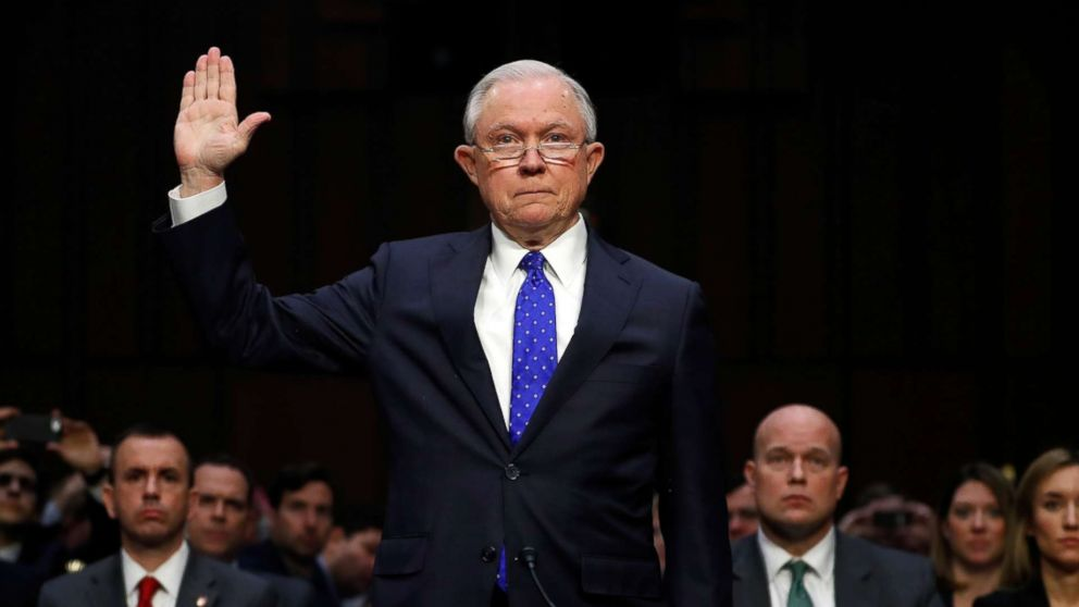 Attorney General Jeff Sessions says he has not been interviewed by special counsel in Russia probe