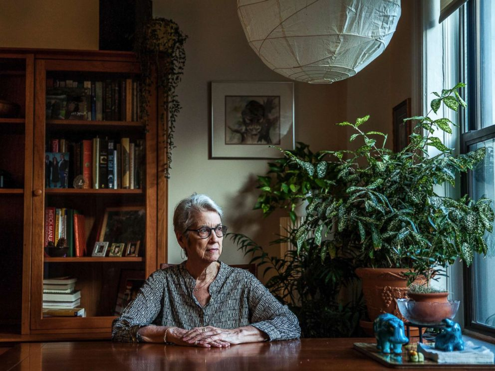 PHOTO: Jessica Leeds, a businesswoman at a paper company who was sitting next to Donald Trump on a flight to New York in the early 1980s, at her home in New York, Oct. 11, 2016.