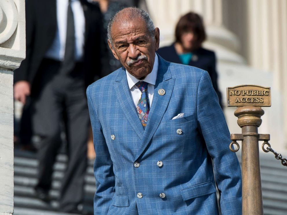 PHOTO: Rep. John Conyers, D-Mich., walks down the House steps after voting in the Capitol, Nov. 3, 2017 in Washington, D.C.