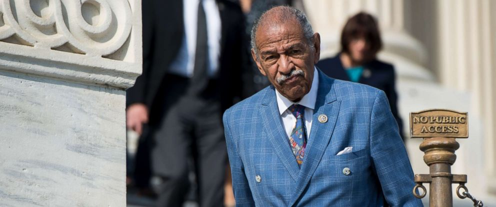 PHOTO: Rep. John Conyers, D-Mich., walks down the House steps after voting in the Capitol, Nov. 3, 2017.