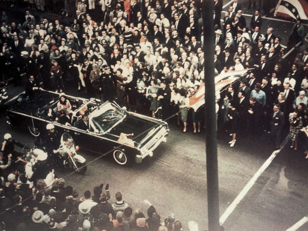 PHOTO: President John F. Kennedy, first lady Jacqueline Kennedy, and Texas Governor John Connally ride through the streets of Dallas, Texas prior to the assassination on Nov. 22, 1963.