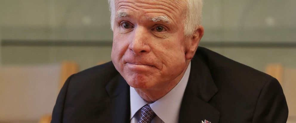 PHOTO: Senator John McCain looks on during security talks in Canberra, Australia, May 29, 2017.