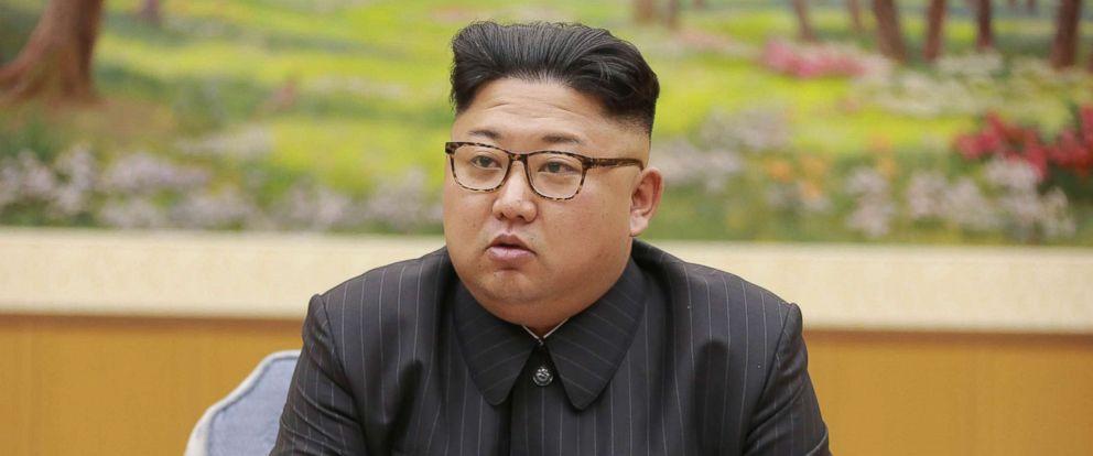 PHOTO: North Koreas leader Kim Jong Un holds a meeting of the ruling partys presidium, Sept. 3, 2017.