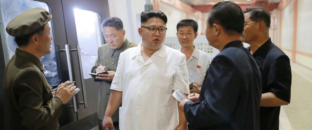 PHOTO: North Korean leader Kim Jong-Un inspects a machine plant in Pyongyang, North Korea in this undated photo released by North Koreas Korean Central News Agency in 2016.