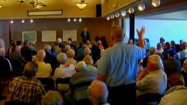 VIDEO: Senator hosted town hall meetings during Presidents Day recess.