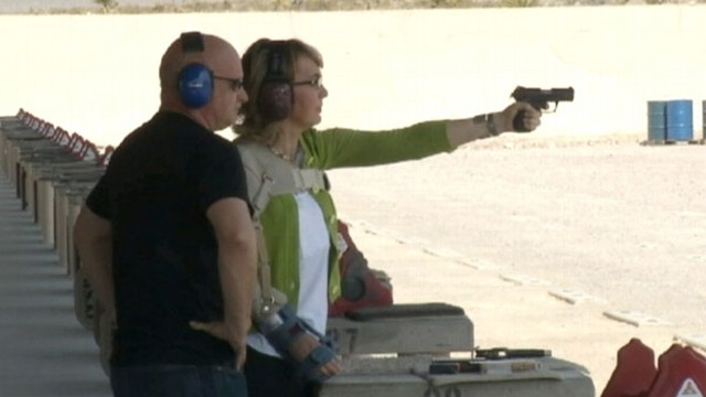 "VIDEO: Former congresswoman visited a Las Vegas shooting range on the ""Rights and Responsibilities Tour."""
