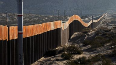 'PHOTO: A view of the border wall between Mexico and the United States, in Ciudad Juarez, Chihuahua, Mexico, Jan. 19, 2018.' from the web at 'http://a.abcnews.com/images/Politics/mexico-border-wall-2-gty-jt-180121_16x9t_384.jpg'