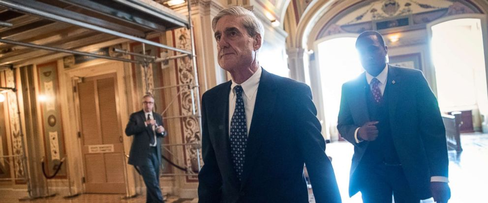 PHOTO: Special Counsel Robert Mueller departs after a closed-door meeting with members of the Senate Judiciary Committee about Russian meddling in the election at the Capitol, June 21, 2017.