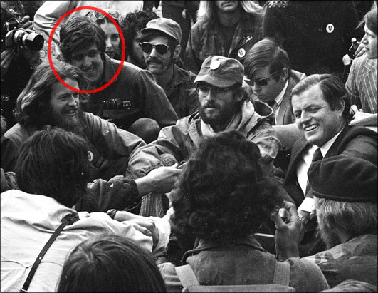 Kerry at Protest