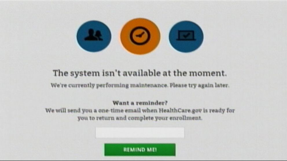 VIDEO: Heathcare.gov was down for unexpected maintenance on final day for first season of enrollment.