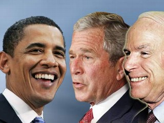 Obama, Bush and McCain meet