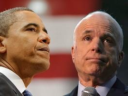 Barack Obama pic, John McCain pic