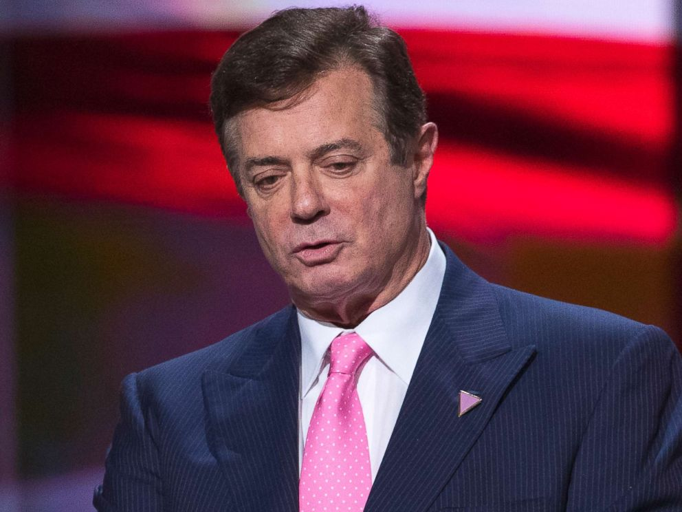 PHOTO: Then-campaign manager Paul Manafort for Republican presidential candidate Donald Trump stands on stage during a walk through at the Republican National Convention in Cleveland, July 21, 2016.