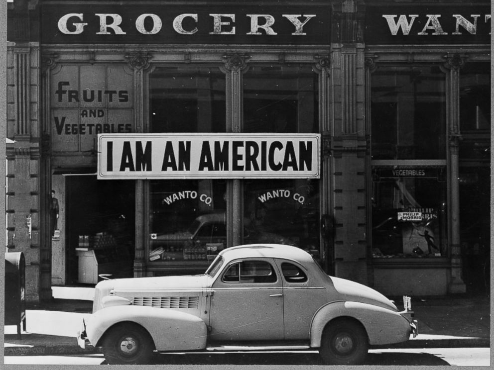 PHOTO: A Japanese-American grocery store owner in Oakland, California, posted this sign on Dec. 8, 1941, a day after Pearl Harbor.