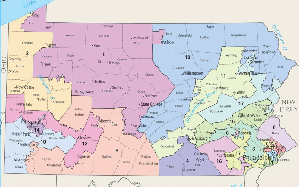Court: Pennsylvania's congressional map is illegal and must be redrawn