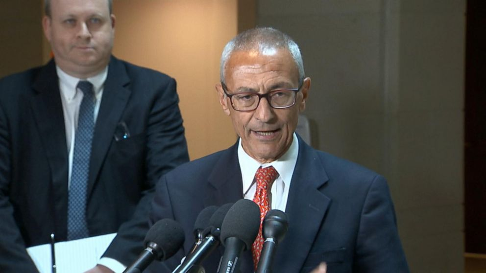 John Podesta attended a closed-door interview on Capitol Hill Tuesday