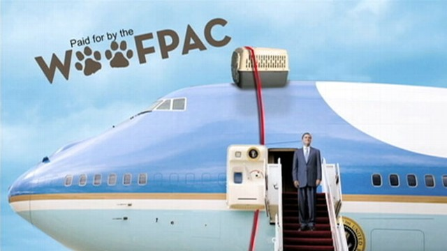 VIDEO: Obama unveils a new GOP attack ad aimed at the presidential pooch.