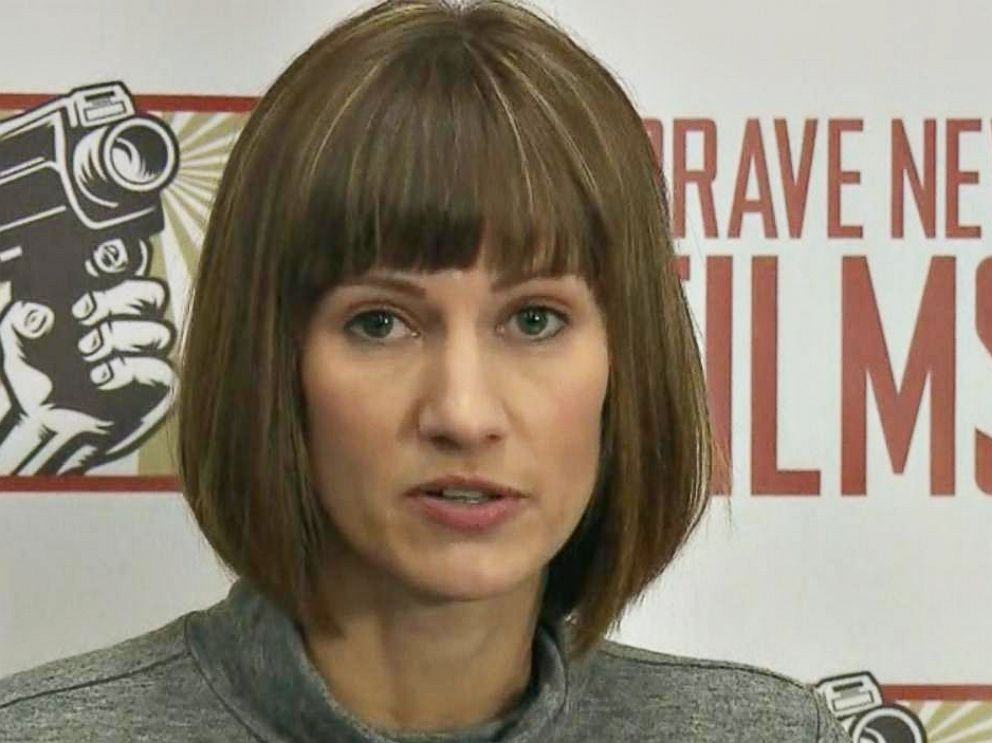 PHOTO: Rachel Crooks appears at press conference in New York City on Dec. 11, 2017, alongside other women who have publicly accused President Donald Trump of sexual harassment and assault.