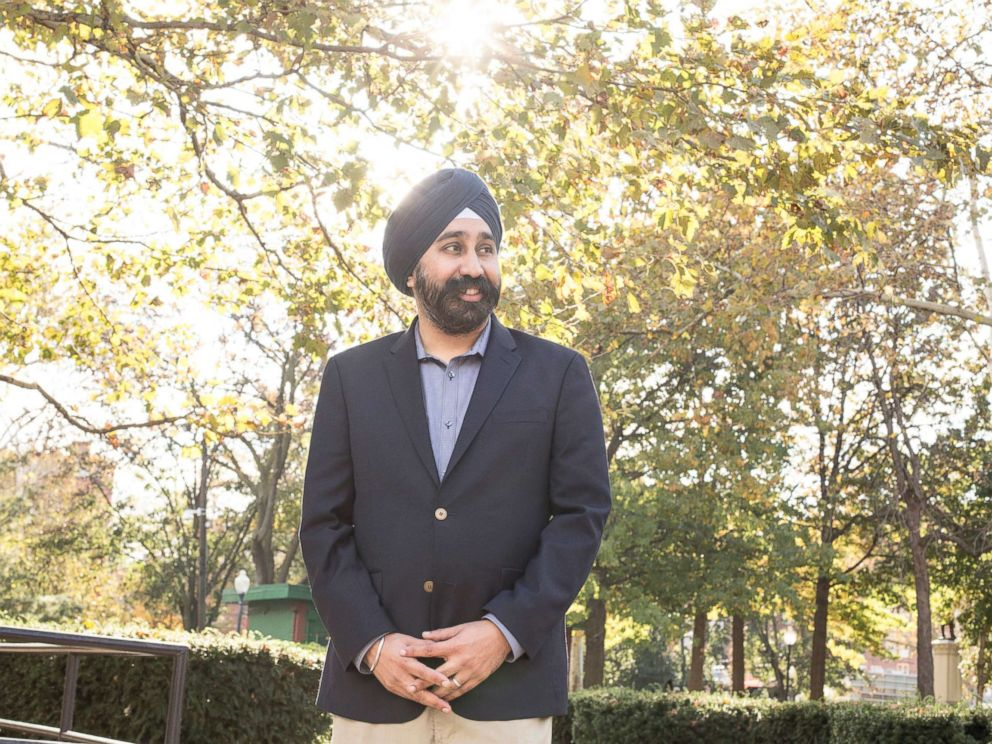 PHOTO: Ravi Bhalla, the first Sikh elected mayor in New Jersey, and one of only a few Sikhs to become mayor nationwide, in Hoboken, N.J., Nov. 8, 2017.