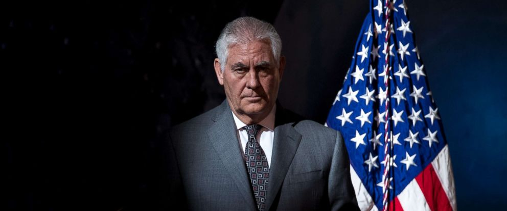 PHOTO: Secretary of State Rex Tillerson arrives for the first meeting of the National Space Council in Chantilly, Va. on Oct. 5, 2017.