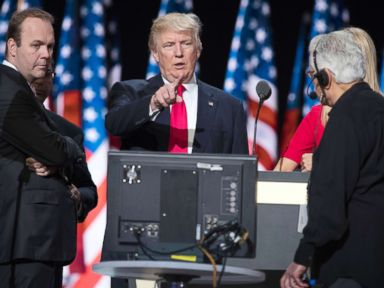 PHOTO: Rick Gates, left, with Donald Trump at the walk through at the Republican National Convention, July 21, 2016, in Cleveland.