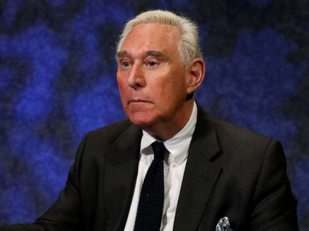 PHOTO: Political advisor Roger Stone gestures during an interview in New York City, Feb. 28, 2017.