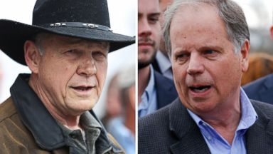 'PHOTO: Senatorial candidates Roy Moore and Doug Jones are pictured on Dec. 12, 2017 in Alabama.' from the web at 'http://a.abcnews.com/images/Politics/roy-moore-doug-jones-split-gty-ap-jc-171212_16x9t_384.jpg'